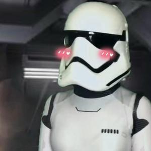 blushing stormtrooper 🤍